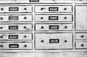 Drawers with labels